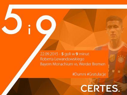 Robert Lewandowski - 5 goli / 9 minut CERTES – Google+