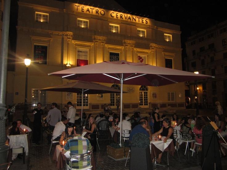 Terraza en Malaga  Centro,  frente al Teatro Cervantes