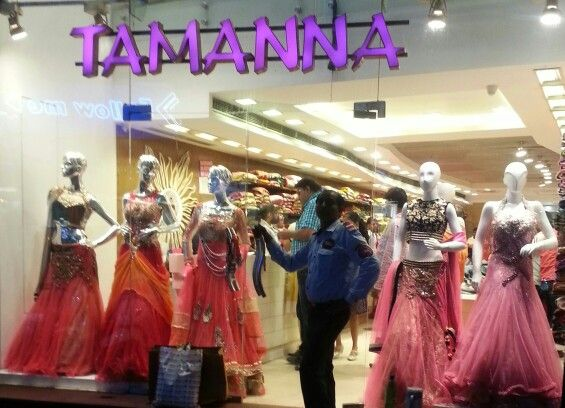 Tamanna has a horizontal open window display.. There should be some space in the mannequins so that the garment can be seen properly..