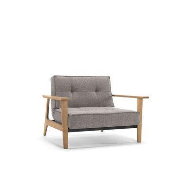 SPLITBACK Frej - fauteuil modulaire à 3 positions (assis, relax, couché) avec accoudoirs. Design : Per Weiss & Oliver WeissKrogh pour Innovation DK (Danemark) - tissu Mixed Dance Grey