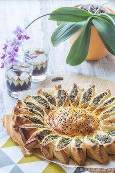 Tarte Soleil Epinard, Poulet & Fromage
