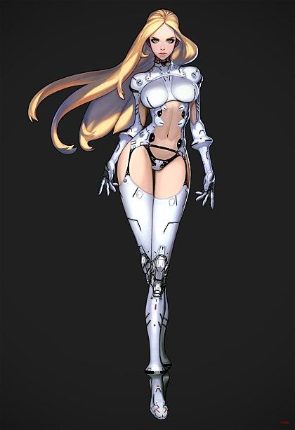 Anime Characters In Their 30s : Best cyborgs images on pinterest armors concept art