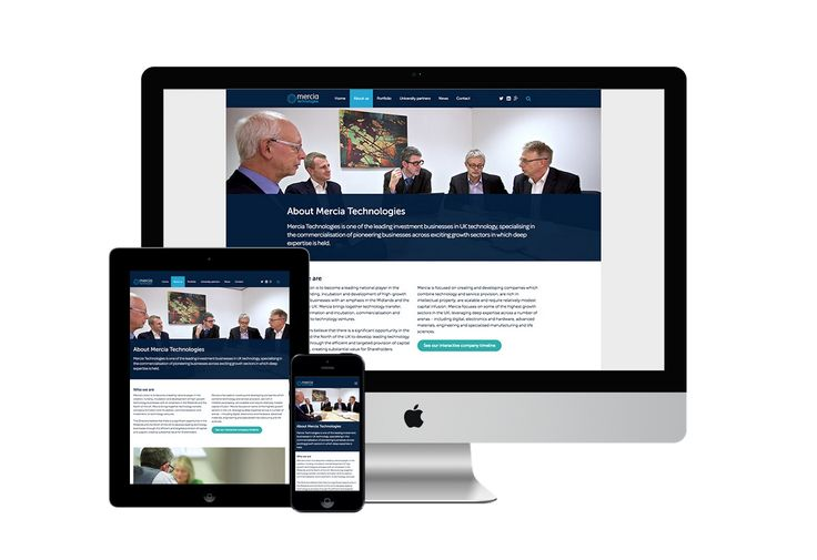 Responsive design for Mercia Technologies.  #responsive #design #web