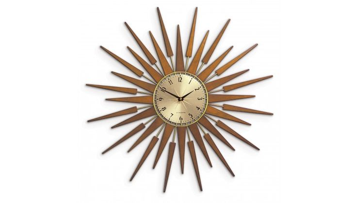 Newgate Pluto Starburst Gold Wall Clock