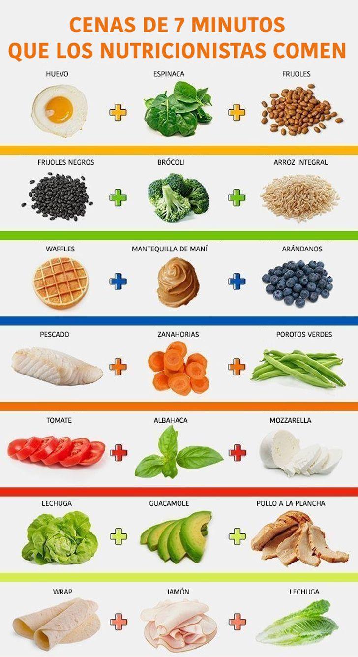 Cenas de 7 minutos #saludables y rápidas de preparar                                                                                                                                                                                 Más