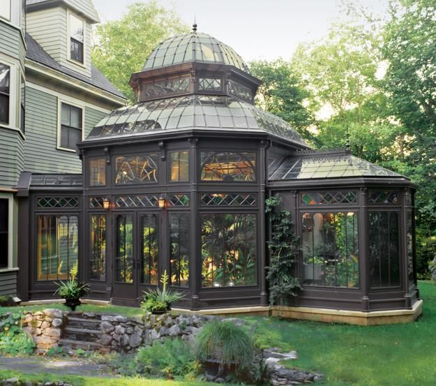 Steampunk Inclinations | A Gardener's Dream victorian conservatory  By means of…