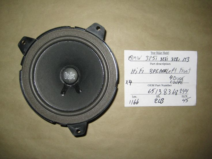 This Speaker is for BMW , BMW 318i , BMW 323ci , BMW 323i , BMW 325ci , BMW 325i , BMW 328ci , BMW 328i , BMW 330ci , BMW 330i , BMW 335i , BMW M3 .Please compare the part number(s): 65138368244 , make sure to check with your local dealer before purchase it.Left Front, Right Front, Left Rear, Right Rear