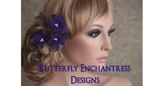 Bridal Hair Flowers Wedding Flower by ButterflyEnchantress on Etsy, $16.99