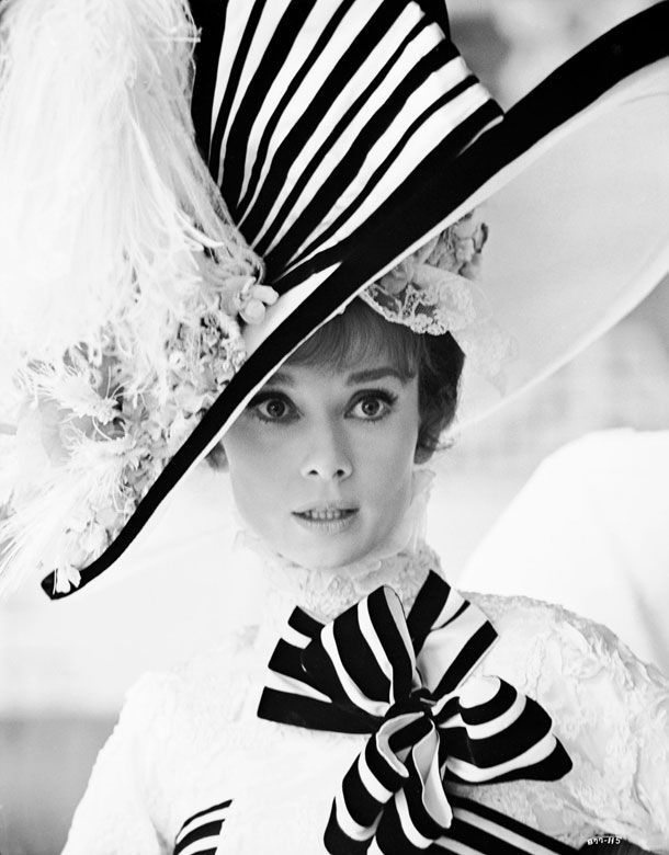 "Black & White via Audrey Hepburn in ""My Fair Lady"" © Warner Bros. Entertainment Inc.  pbs.org"