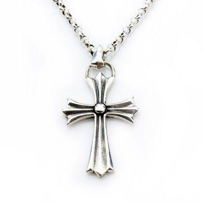 AEKK 925 sterling silver chrome hearts holy cross pendant necklace set