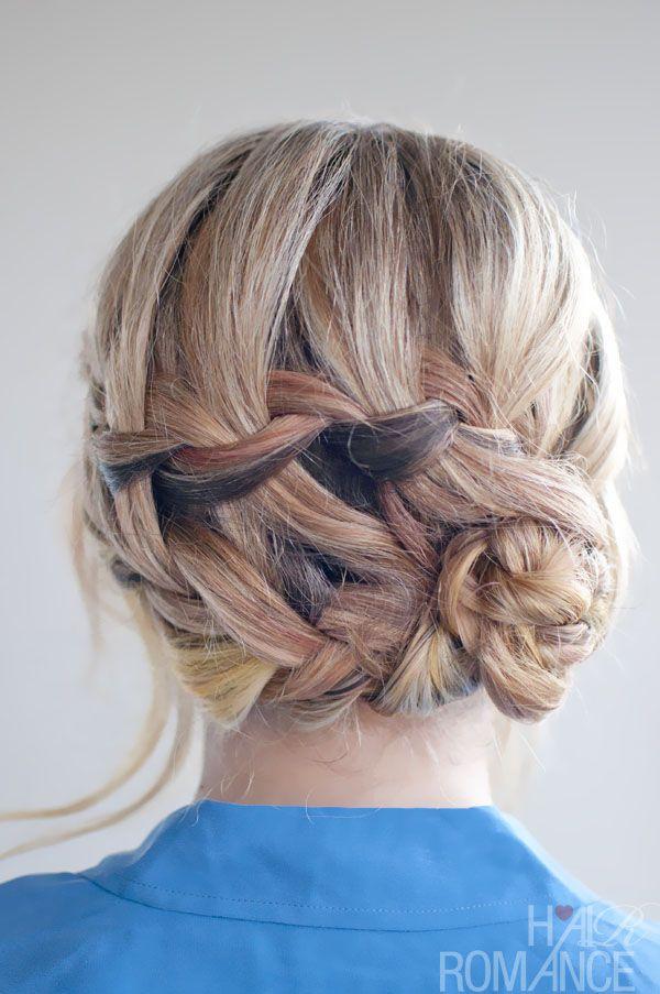 braid updos for short hair | ... Waterfall Braid Updo Hairstyle - Romantic Hairstyles / Hair Romance