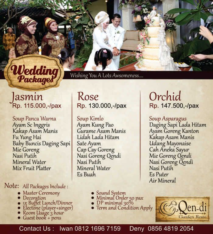 Wedding Package Qendi Resto Sidoarjo