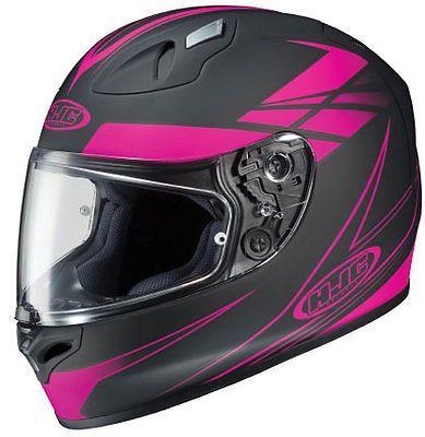 HJC FG 17 Force Womens Full Face Street Motorcycle Helmet Grey/Pink SU