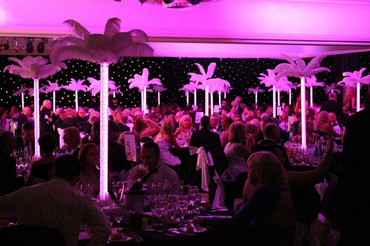 Donna Mortimer Ball. LED pixel tube table centres. Table Art. Black star cloth draping.
