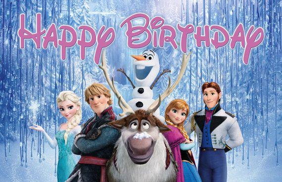 Frozen Happy Birthday Banner by SpecialtyBanners on Etsy, $20.00