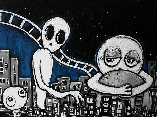 """La luna es mia""  mixed media on canvas  090 x 50 cm, available"