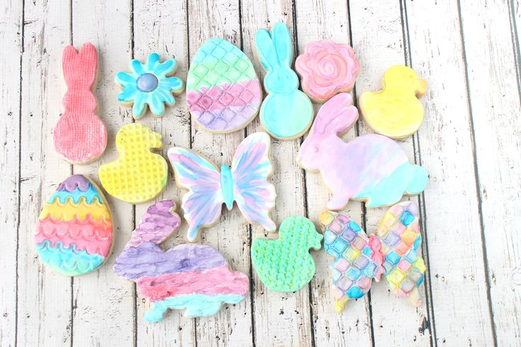 WaterColor Decorated Cookies