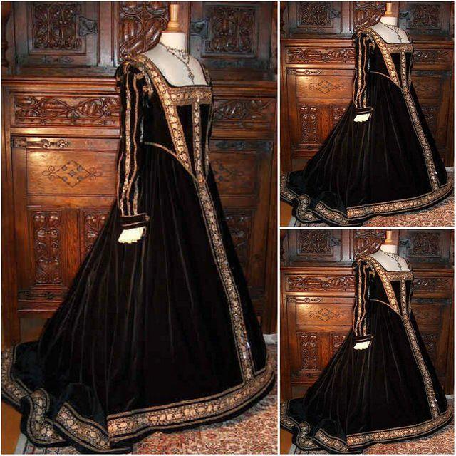 Freeship! Cliente-hecho 18 Siglo Vintage Vestidos Renacentistas vestido Steampunk Gótico Cosplay de Halloween Vestidos de Disfraces C-1183