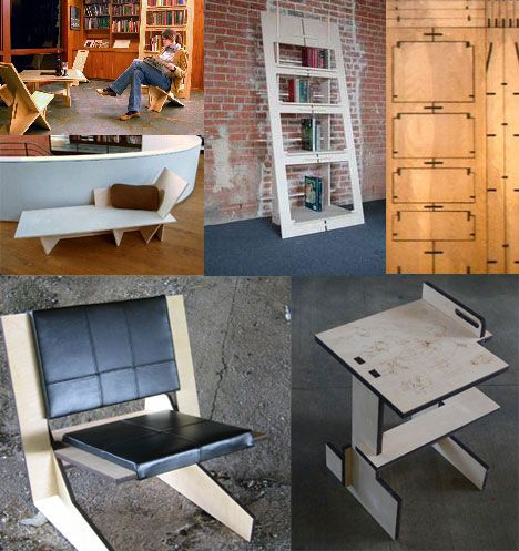 More Creative Furniture for Cramped Urban Living: 20 Pieces of Ingenious 'Flat Pack' Furniture