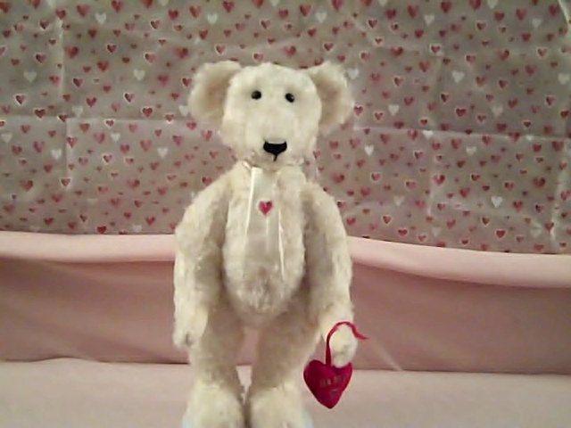 Valentine Bachelor mohair bear by Gladysshop on Etsy, $195.00