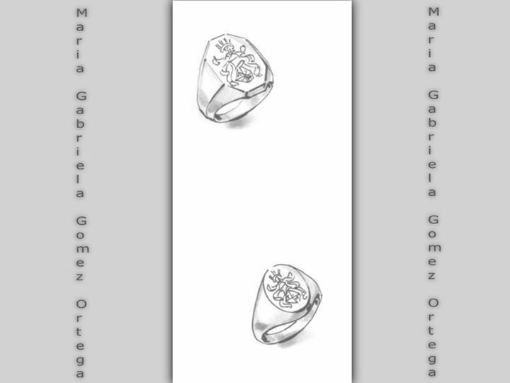Disegni preliminari - #anello con stemma di famiglia #ring #jewelrydesigner #jewel