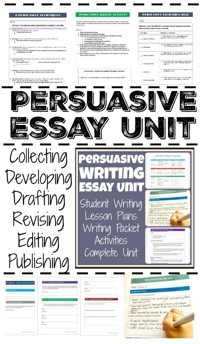 Editing persuasive essay lesson plan