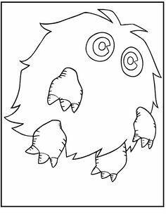 Yu Gi Oh Kuriboh Monster Coloring Pages For Kids Printable