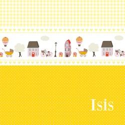 Geboortekaartje geel @Geboortekaartjes- LiefLeukenEigen