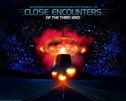 Close Encounters of the Third Kind is a 1977 American science fiction film written and directed by Steven Spielberg and features actors Richard Dreyfuss, François Truffaut, Melinda Dillon, Teri Garr, Bob Balaban, and Cary Guffey. It tells the story of Roy Neary, an everyday blue collar worker in Indiana, whose life changes after an encounter with an unidentified flying object (UFO)