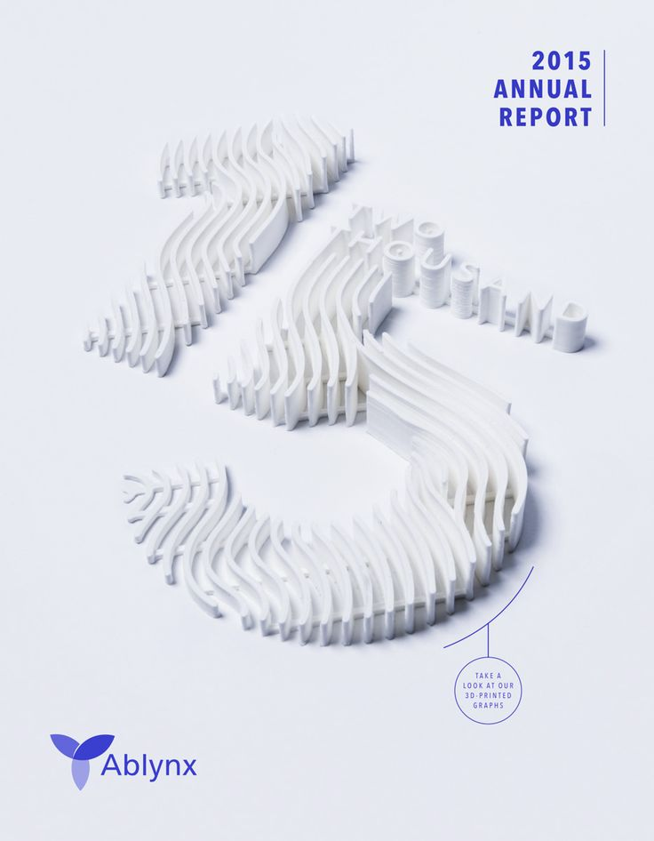 3D printed infographics on Behance
