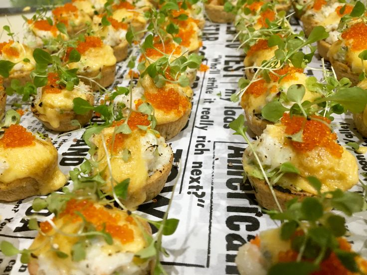 Spanner crab 'Benedict' tartlet with torched hollandaise & coriander pea puree