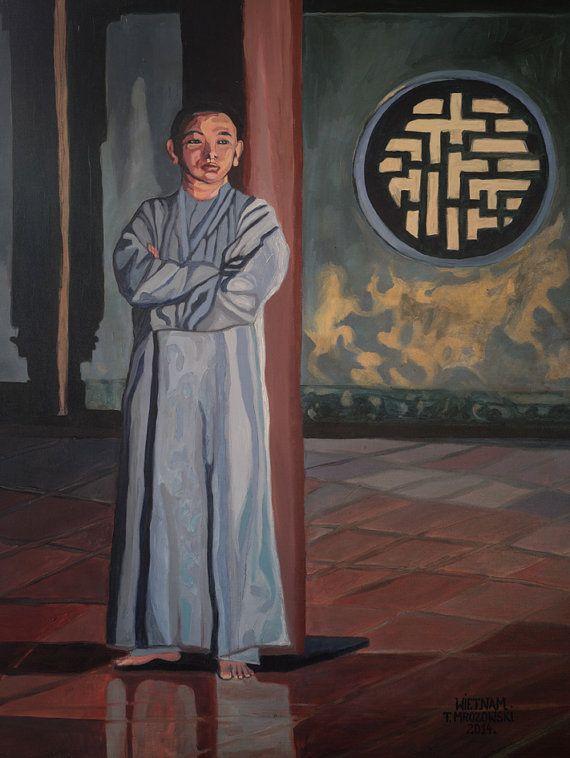 Wietnam Vietnam  Original oil painting by PaintingThomasMrozow