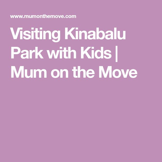 Visiting Kinabalu Park with Kids | Mum on the Move