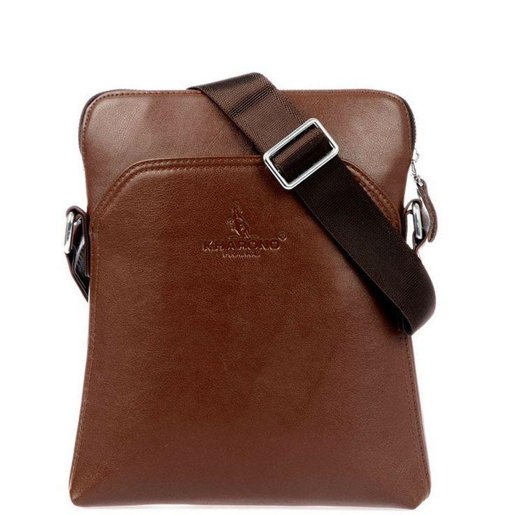 The new 2014 leather men's bags counters authentic men's single shoulder slope across business package Men messenger bag  $26.37
