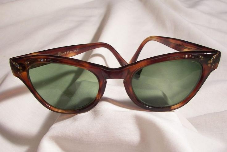 Vintage 40's Authentic cat eye Tortoise shell Bakelite Sunglasses frame marked Frame France El: Cat Eyes, 40 S Authentic, Tortoise Shell, Bakelite Sunglasses, Authentic Cat