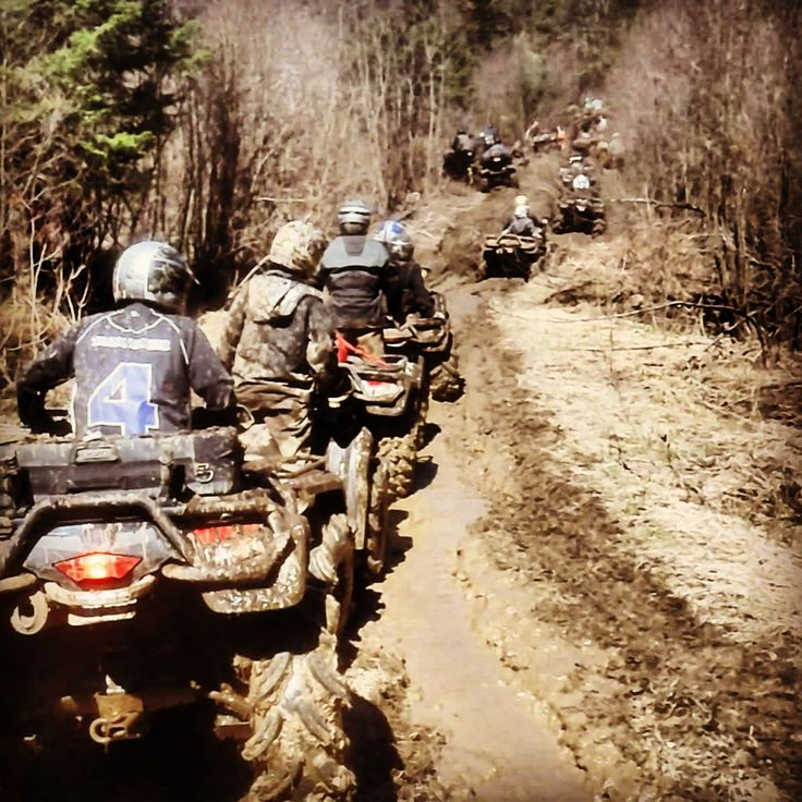 Looks like my last birthday.. Minus the helmets and plus a cooler strapped to the back of every 4- wheeler..