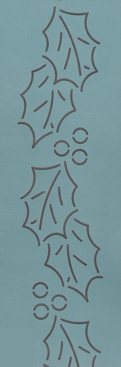 "Holly Berry Border 2.5"" - The Stencil Company"