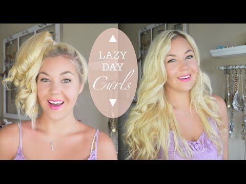 Lazy Day Quick Curls | Using a Pony Tail Holder - YouTube