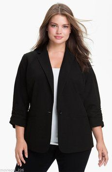 Michael by Michael Kors Plus Size BLACK Blazer