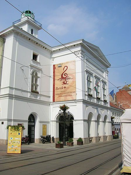 National Theatre of Miskolc, Hungary. During the International Opera Festival.