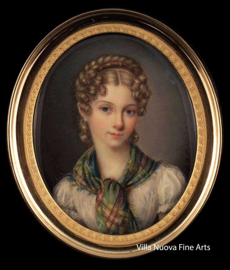 Jules Antoine VAUTHIER (1774-1832) Portrait of young Lady, 1821