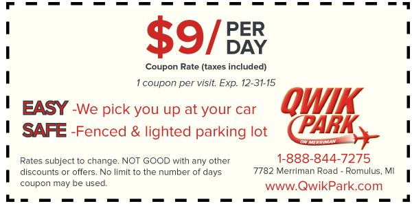 Detroit Metro Airport Parking Coupons:By printing our DTW Airport coupon, you are guaranteeing one of the best ways to save money.
