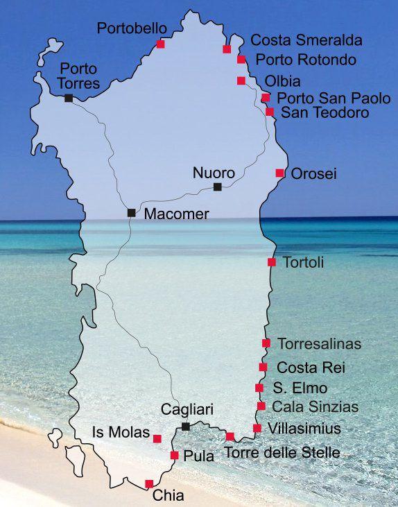 Urlaubsorte Auf Sardinien Ferienhaus Direkt Am Strand Urlaubsorte