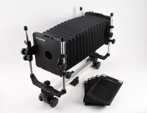 Calumet Cambo 4x5 Monorail Large Format View Camera w 5 Film Holders and Case