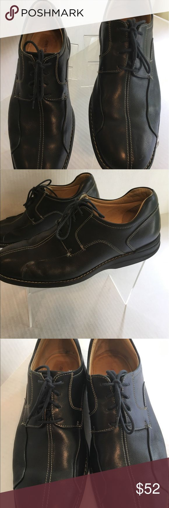Johnson and Murphy Leather Shoes These shoes are in like-new condition. Made in Brazil of glove-like quality leather. Lots of great cushioning. White topstitching. Johnson and Murphy Shoes Oxfords & Derbys