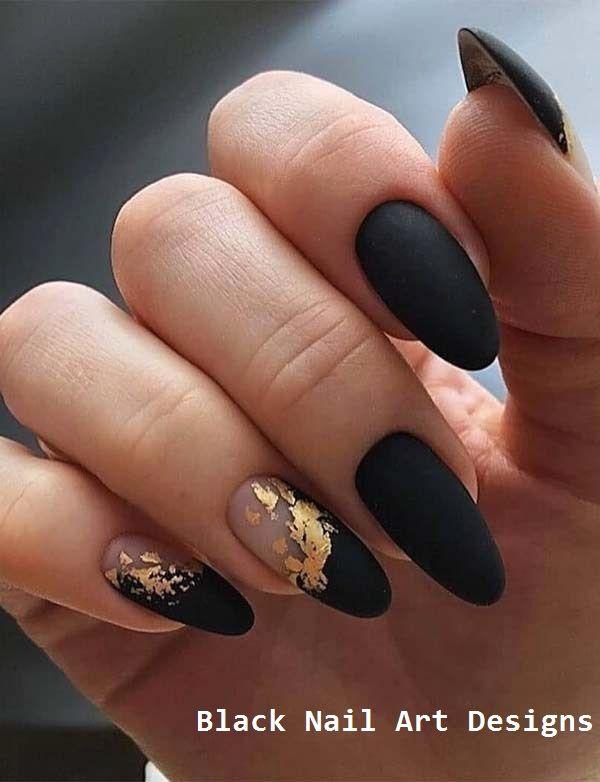 20 Simple Black Nail Art Design Ideas #nailartideas