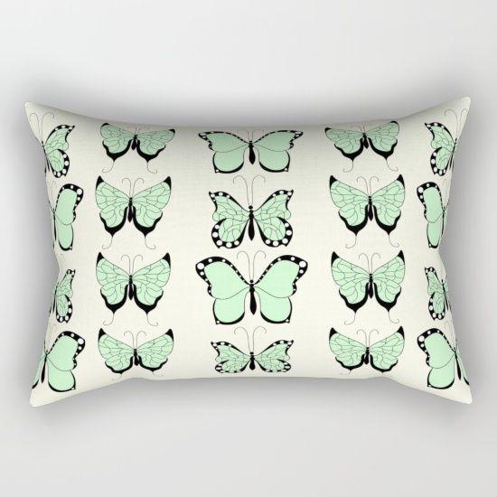 Rectangular pillowcase featuring a butterfly pattern