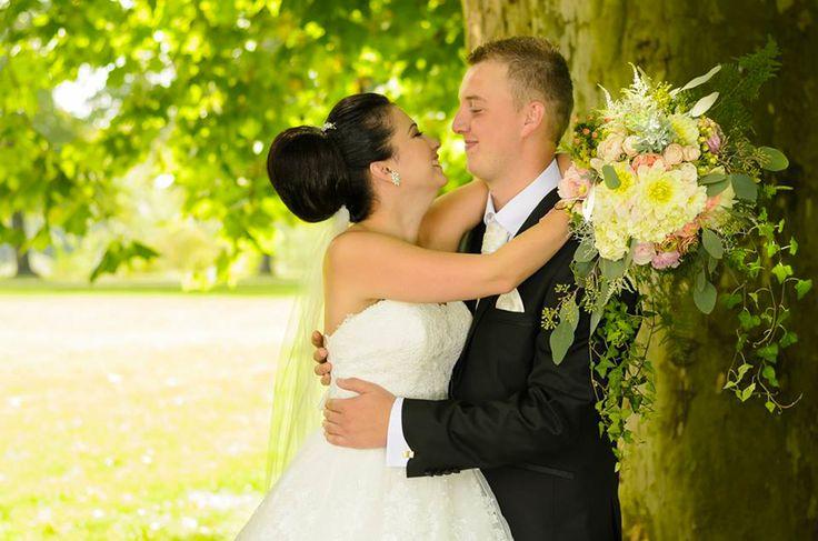 Anglická svadobná kytica z anglických ruží