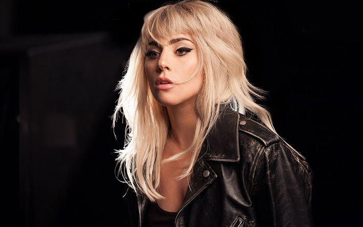 Lady Gaga, American singer, portrait, blonde, make-up, Stephanie Germanotta