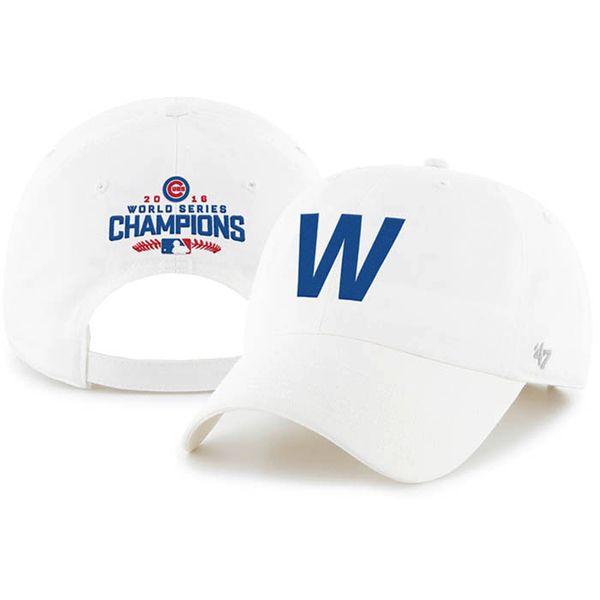 Chicago Cubs 2016 World Series Champions 'W' Adjustable Hat  #ChicagoCubs #Cubs #FlyTheW #WorldSeries SportsWorldChicago.com